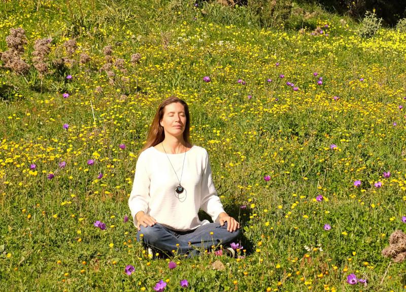 Meditieren Wiese - Nima Ashoff